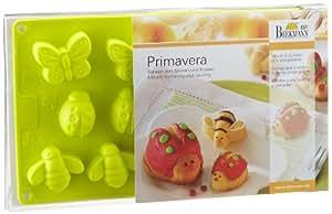Birkmann Primavera - Molde de silicona con formas de insectos, tamaño pequeño