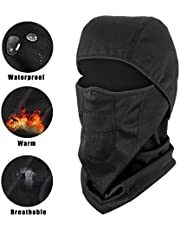 Hutigertech Balaclavas Waterproof Ski Mask Windproof Face Mask for Cold Weather Fleece Ski Mask Full Face Mask for Man and Woman Skiing Motorcycle Outdoor Sports