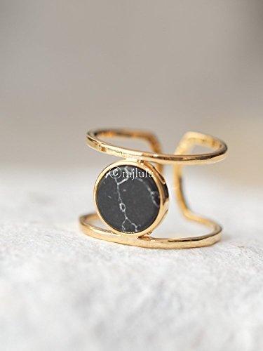 Black Geometric Ring - 9