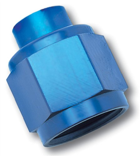 Cap Russell Flare (Russell 661970 Blue Anodized Aluminum -8AN Flare Cap Fitting)