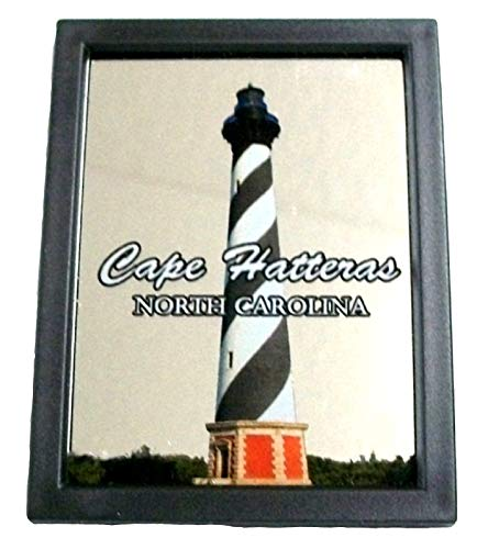 SMS Gifts Cape Hatteras North Carolina with Lighthouse Mirror Fridge Magnet