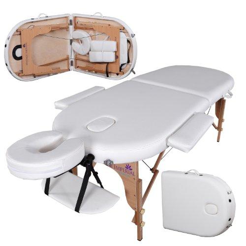 Table de massage pro luxe - Massage Imperial Orvis - Portable - Plateau 2 Pièces - Panneaux Reiki - Légère - Couleur : Ivoire Blanc