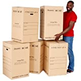 5 x Davpack Large Printed Moving Boxes - House Removal & Storage (456mm x 456mm x 780mm) - Choice of Sizes Available - Ref ADM30P