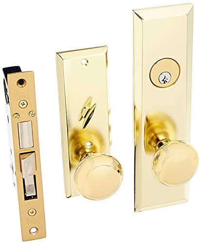 Guard Security Gotham Heavy Duty Mortise Attached Lockset (Right Hand, Polished Brass)