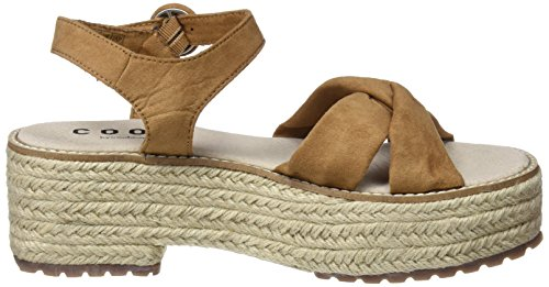 COOLWAY Women's Kitty Platform Sandals Brown (Cue 300) JiObko49