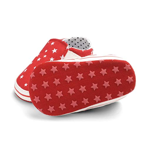 36703784439a2 Luonita First Walkers July 4th American Flag Spring Star Print Baby Shoes  Soft Bottom Boys and Girls Non-Slip Toddler Shoes for 0-18 M ...