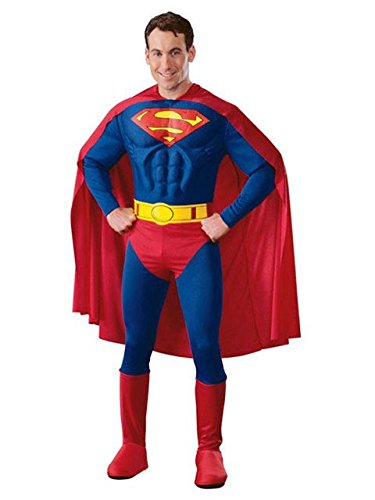 Rubie's Men's DC Comics Deluxe Muscle Chest Superman Costume, as as Shown, X-Large]()