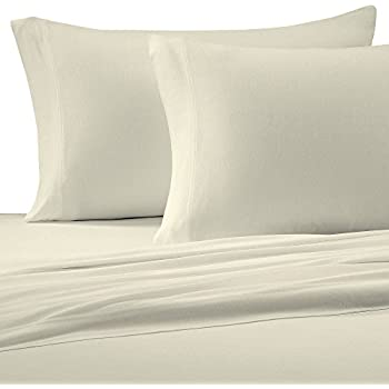 Brielle Cotton Jersey Knit (T Shirt) Sheet Set, King, Ivory