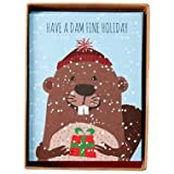 Beaver Dam Fine Holiday Boxed Christmas Holiday Cards, Set of 15