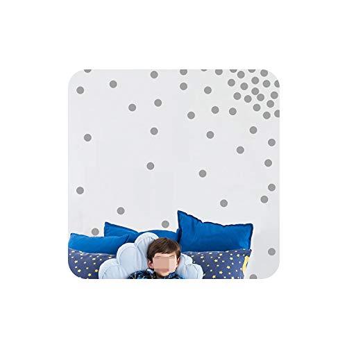 (mybeautifulstore 1 1 Sheet 3/4/5cm Dots Circles Removable Vinyl Wall Stickers Baby Kids Children Bedroom Wallpaper Home Decor Wall Art Decal,Gray,4cm)