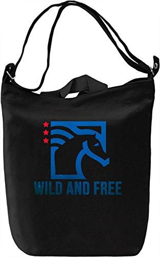 American Horse Borsa Giornaliera Canvas Canvas Day Bag| 100% Premium Cotton Canvas| DTG Printing|