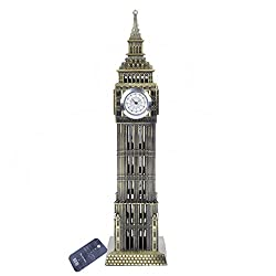 ZOVIE Big Ben Statue London Landmarks Glorious Home Decoration Make of Pure Copper (Real Clock Big Ben Bronze)