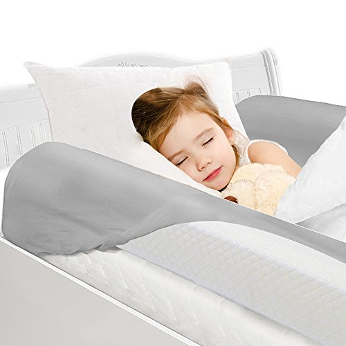 Toddler Bed Rail Bumpers [2 Pack] Safety Sleep Bedside Rail Guard for Toddlers & Kids & Baby | Memory Foam Long Pillow Pads with Non-Slip Machine Washable Cover Shinnwa (Rails Full Bed Size Side Bed For)