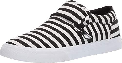 (Supra Men's Cuba Black/White Stripe 13 D US)
