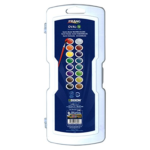 - Dixon DIX16000BN Prang Oval Pan Semi-Moist 16 Water Colors Set, MultiPk 2 Each