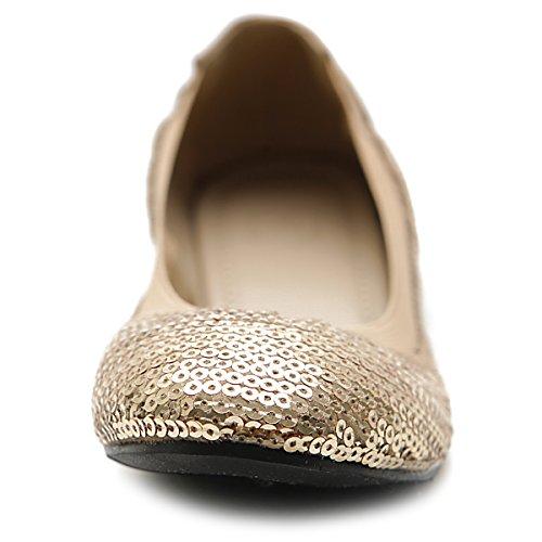 Women's Dbeige Ballet Multi Spangle Shoe Ollio Color Comfort Flat dwq1BM7H