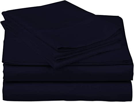 King Double Black, Double Super King /¦/¦ Available in 11 Colours Yahya 100/% Natural Egyptian Cotton 200 Thread Count Flat sheets /¦/¦ Luxurious Opulent Super-soft /¦/¦ Single