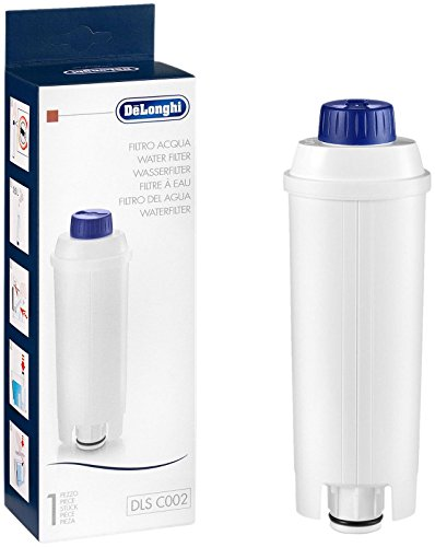 De'Longhi 5513292811 Water Filter, White - DLSC002 Delonghi Coffee Maker Filter
