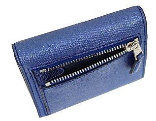 8154cd198864 [コーチ] COACH 財布 (三つ折り財布) F21069 メタリックネイビー SVLBI レザー 三