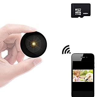 YANX Mini Camera Hidden Baby Monitor Wireless Camera HD IP Home Security Cam with Night Vision (Black New)