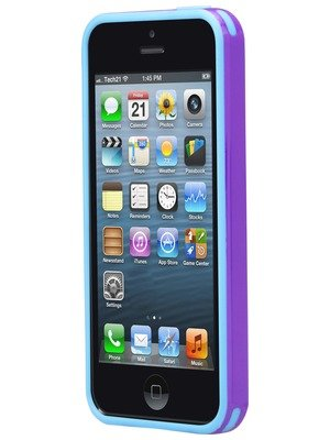 Tech21 Impact Trio for iPhone 5/5S SE- Purple Blue ()