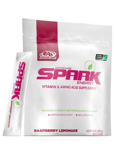 Spark Raspberry Lemonade Vitamin and Amino Acid Supplement 14 stick pack