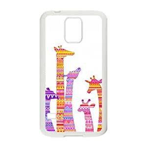 Colorful Aztec Tribal Giraffe Samsung Galaxy S5 Case Rubber Back Fits Cover