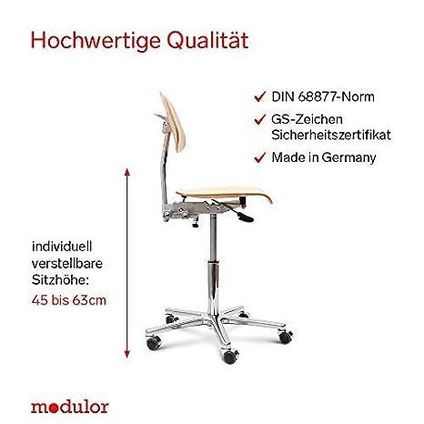 Modulor Höhenverstellbarer Arbeitsstuhl Ergonomischer Drehstuhl Aus