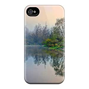 New Snap-on AleighasZelaya Skin Case Cover Compatible With Iphone 4/4s- Autumn Morning In The River