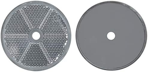 Schrauben FKAnh/ängerteile 30 x R/ückstrahler Reflektor Wei/ß /Ø 60 mm E-Pr/üfzeichen
