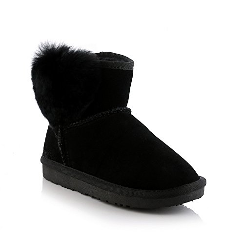 Fur On Ladies Frosted Ornament Boots Black Pull Platform BalaMasa qOZnfIwvO