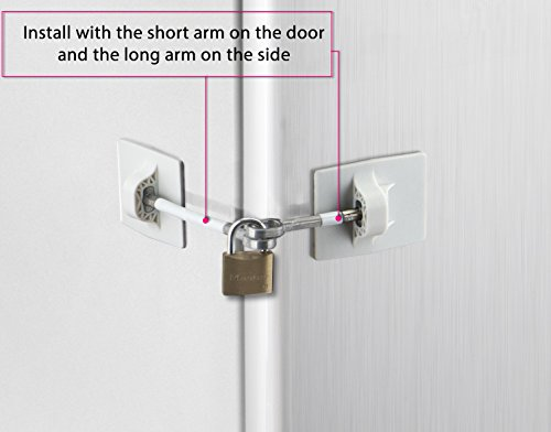 Refrigerator Door Lock with Padlock - White by Computer Security Products (Image #4)