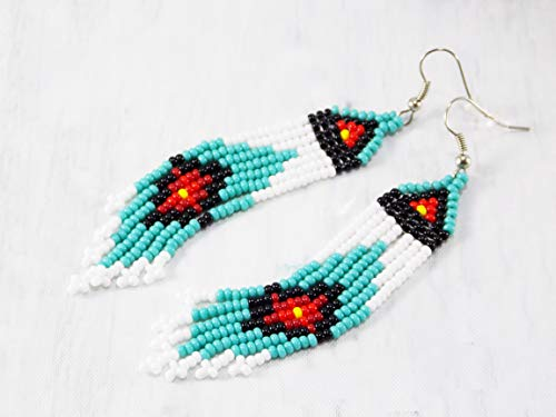 Handmade Gift for bestfriend christmas Party womens Aquamarine earrings Ethnic style Designer Indian jewelry