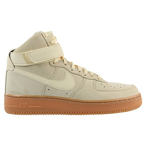 Picture of NIKE Air Force 1 High '07 LV8 Suede Men's Shoes Muslin/Gum Medium Brown aa1118-100 (9 D(M) US)