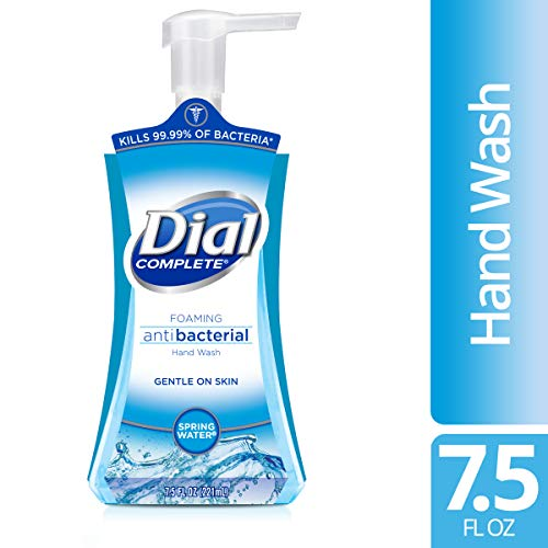 Dial Complete Antibacterial Foaming Hand Wash, Spring Water, 7.5 Ounce