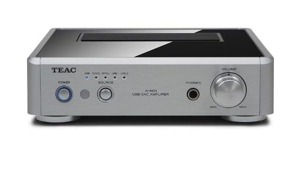 TEAC A-H01 2.0 Hogar Alámbrico Plata - Amplificador de audio (2.0 canales, 60 W, 0,05%, 100 dB, 43 W, 22 W): Amazon.es: Electrónica
