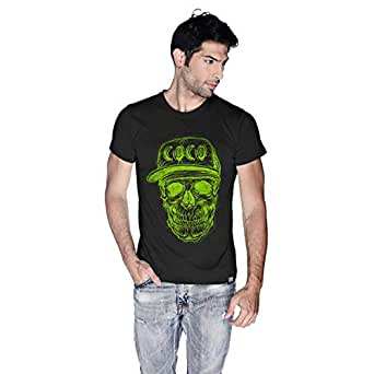 Creo Green Coco Skull T-Shirt For Men - Xl, Black