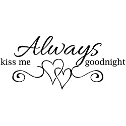 Empresal Always Kiss Me Goodnight Vinyl Wall Decal Quotes Home Decor