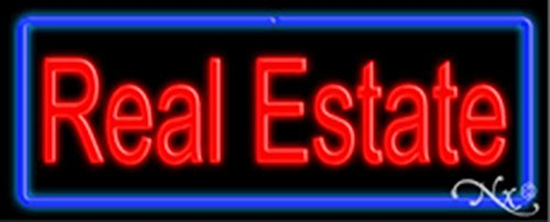(13x32x3 inches Real Estate NEON Advertising Window Sign)
