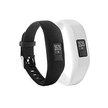 Repuesto de correa con hebilla para reloj Fit-power de silicona suave para pulsera fitness Vivofit 3 Garmin (sin rastreador), Pack of 2: Amazon.es: Deportes ...