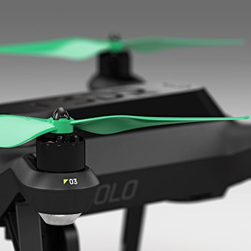 3dr solo built in nut upgrade propellers in green x4 for 3dr solo motor upgrade