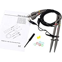 P6100 2PCS Oscilloscope Kit DC-100MHz Scope Clip Test Probe 100MHz 10:1 and 1:1 Switchable for Rigol Atten Owon Siglent (Pack of 2)
