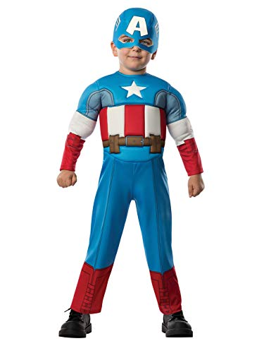 Rubie's Baby Boy's Marvel Classics Avengers Muscle Chest Captain America, Multi, Toddler