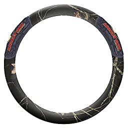 Mossy Oak Steering Wheel Cover - 2 Grip - Bark Camo - Black