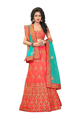 Da Lehenga Facioun Orange Partywear Indian Choli Ethnic Traditional Designer SSxrw0B