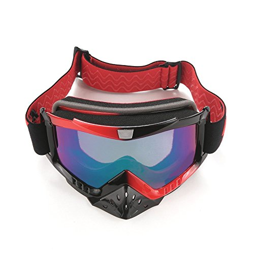G4Free Adult Motorcycle ATV Dirt Bike Off Road Racing Safety Goggles Screen Filter for Motocross Riding Wind ()