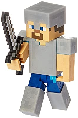 Minecraft Steve with Iron Armor Series 4 Action Figure from Mattel