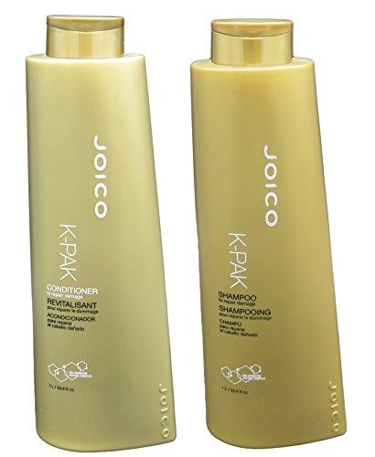 Joico K-Pak Shampoo and Conditioner Liter Duo Set, 33.8 oz