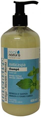 Champú Sin Sal Anticaspa - REAL NATURA 500ml: Amazon.es: Salud y ...