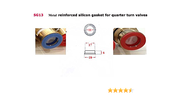 """8Pcs//set Ceramic Disc Silicon Washer Insert Turn Replacement 1//2/"""" For Valve  LS"""